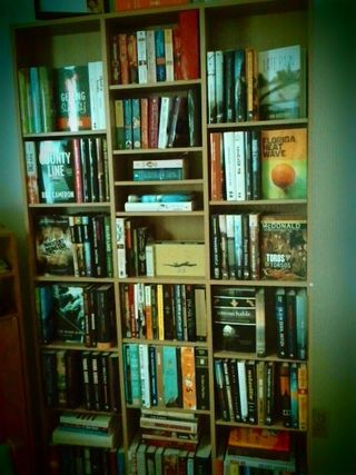 I never tire of gazing at my books